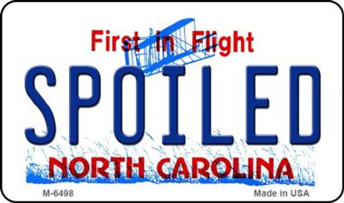 Spoiled North Carolina State License Plate Magnet M-6498