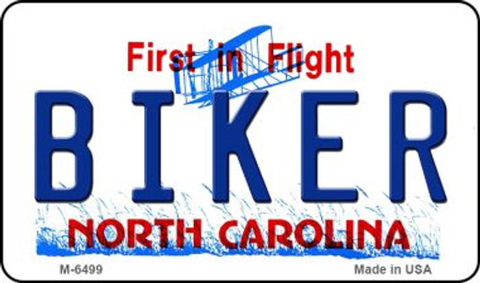 Biker North Carolina State License Plate Magnet M-6499