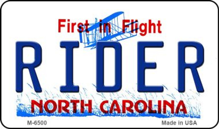Rider North Carolina State License Plate Magnet M-6500