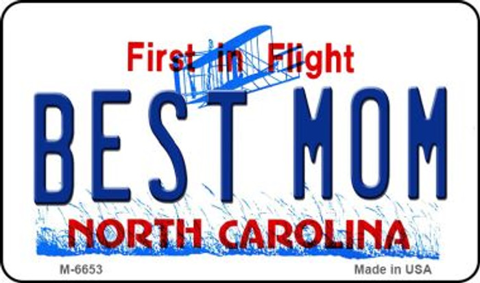 Best Mom North Carolina State License Plate Magnet M-6653