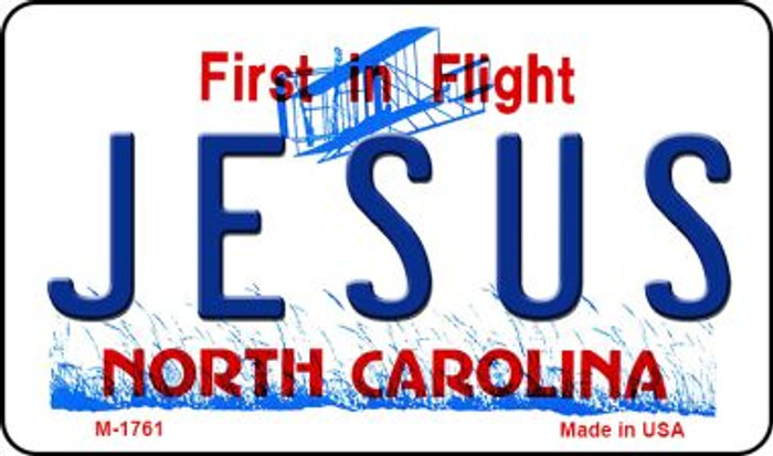 Jesus North Carolina State License Plate Magnet M-1761