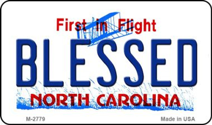 Blessed North Carolina State License Plate Magnet M-2779