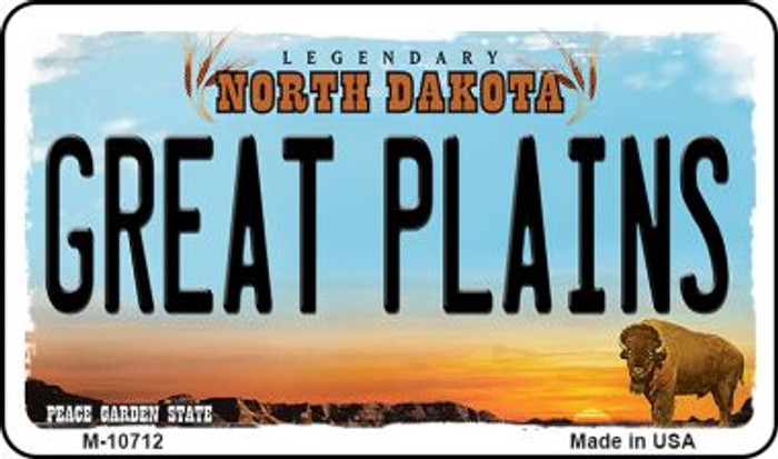 Great Plains North Dakota State License Plate Magnet M-10712