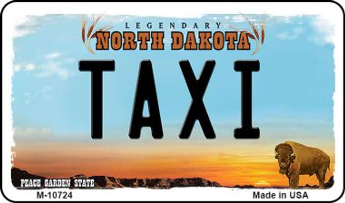 Taxi North Dakota State License Plate Magnet M-10724