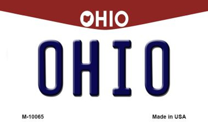 Ohio State License Plate Magnet M-10065