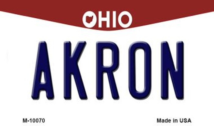 Akron Ohio State License Plate Magnet M-10070