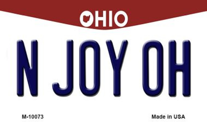 N Joy OH Ohio State License Plate Magnet M-10073