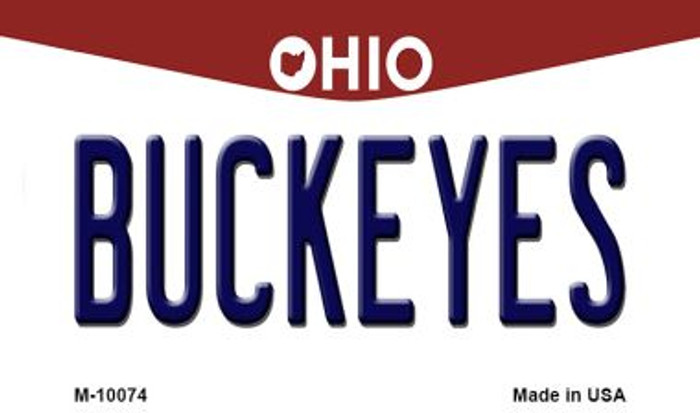 Buckeyes Ohio State License Plate Magnet M-10074