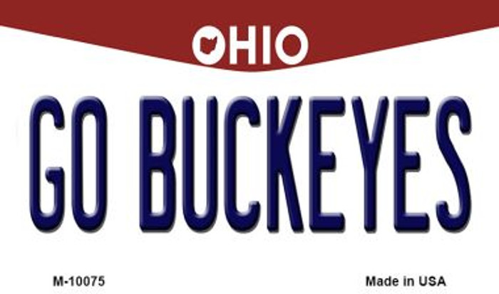 Go Buckeyes Ohio State License Plate Magnet M-10075