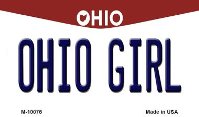 Ohio Girl Ohio State License Plate Magnet M-10076