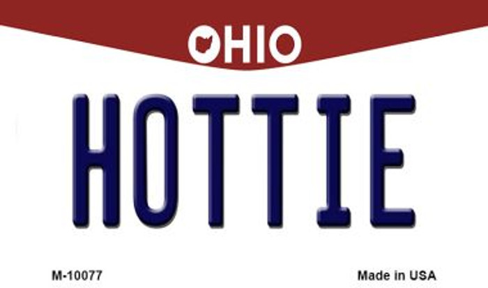 Hottie Ohio State License Plate Magnet M-10077