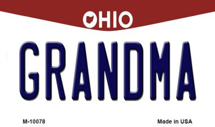 Grandma Ohio State License Plate Magnet M-10078