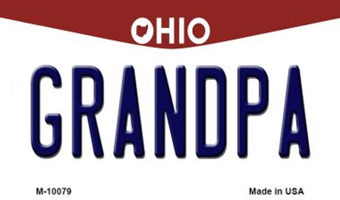 Grandpa Ohio State License Plate Magnet M-10079