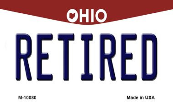 Retired Ohio State License Plate Magnet M-10080