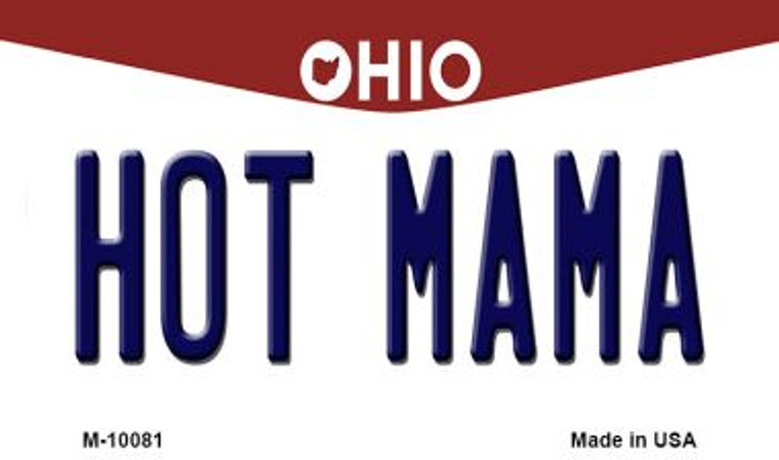 Hot Mama Ohio State License Plate Magnet M-10081