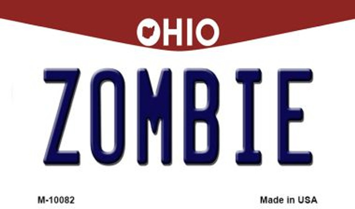 Zombie Ohio State License Plate Magnet M-10082