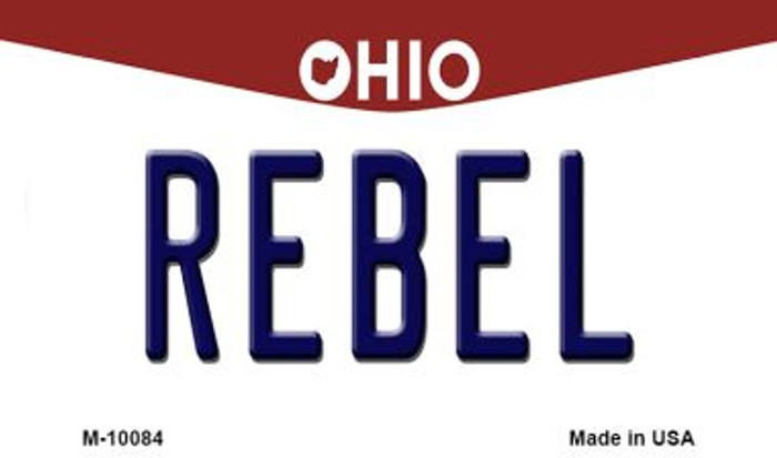Rebel Ohio State License Plate Magnet M-10084