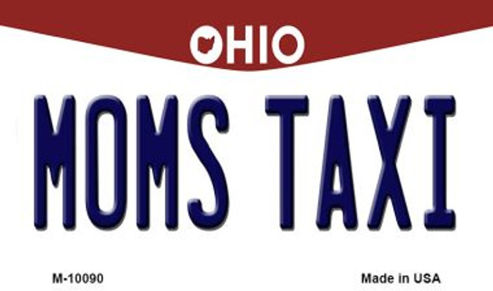 Moms Taxi Ohio State License Plate Magnet M-10090