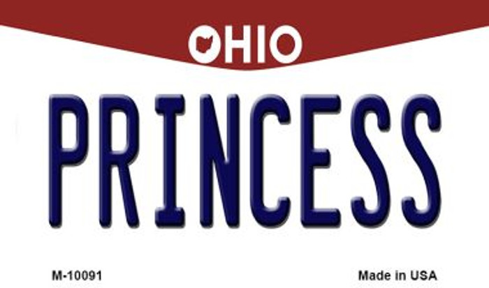 Princess Ohio State License Plate Magnet M-10091