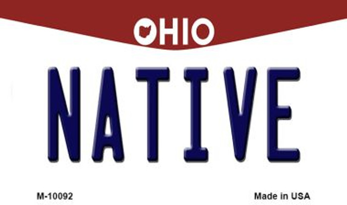 Native Ohio State License Plate Magnet M-10092