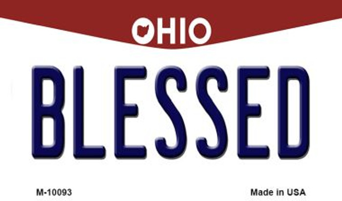 Blessed Ohio State License Plate Magnet M-10093