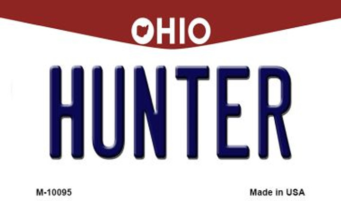 Hunter Ohio State License Plate Magnet M-10095