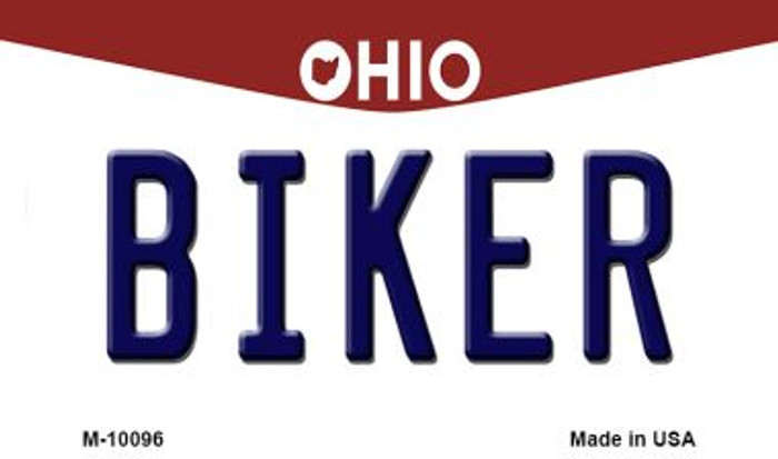 Biker Ohio State License Plate Magnet M-10096