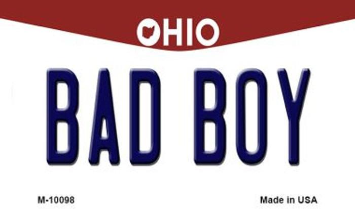 Bad Boy Ohio State License Plate Magnet M-10098
