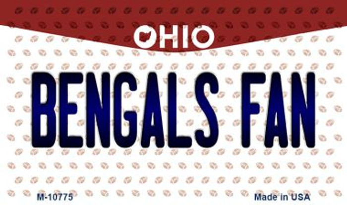 Bengals Fan Ohio State License Plate Magnet M-10775