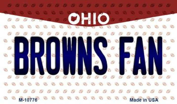 Browns Fan Ohio State License Plate Magnet M-10776