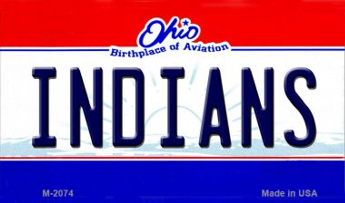 Indians Ohio State License Plate Magnet M-2074
