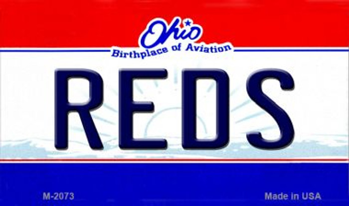 Reds Ohio State License Plate Magnet M-2073
