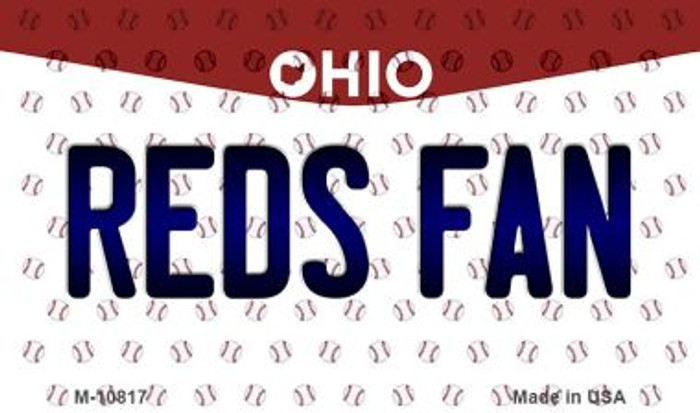 Reds Fan Ohio State License Plate Magnet M-10817