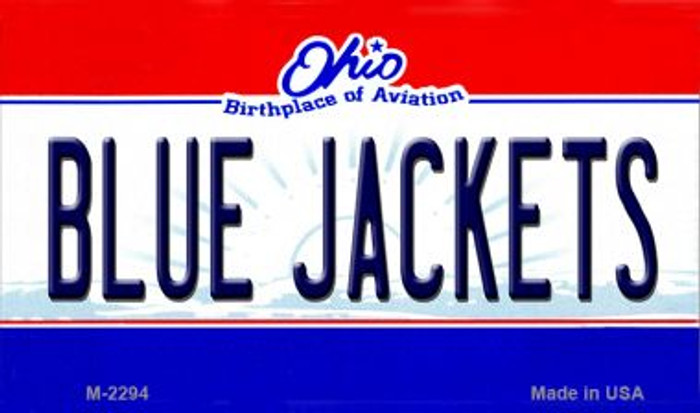 Blue Jackets Ohio State License Plate Magnet M-2294