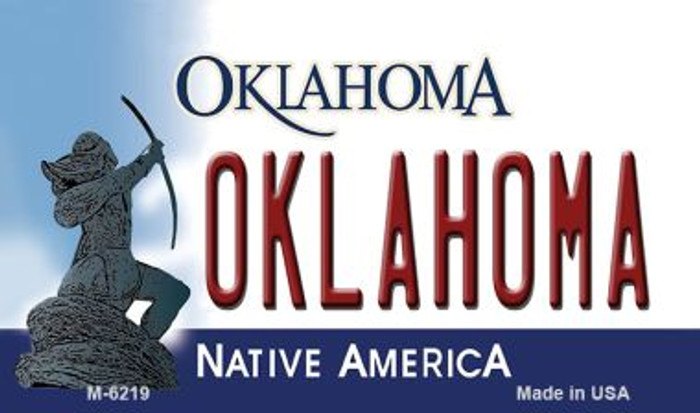 Oklahoma State License Plate Novelty Magnet M-6219