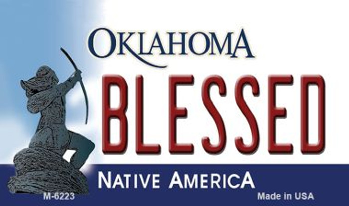 Blessed Oklahoma State License Plate Novelty Magnet M-6223