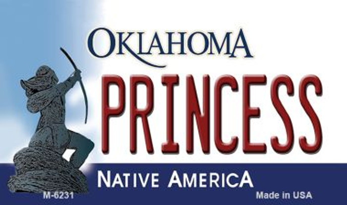 Princess Oklahoma State License Plate Novelty Magnet M-6231