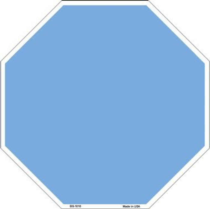 Light Blue Dye Sublimation Octagon Metal Novelty Stop Sign BS-1010