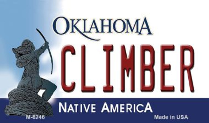 Climber Oklahoma State License Plate Novelty Magnet M-6246