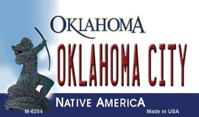 Oklahoma City State License Plate Novelty Magnet M-6254