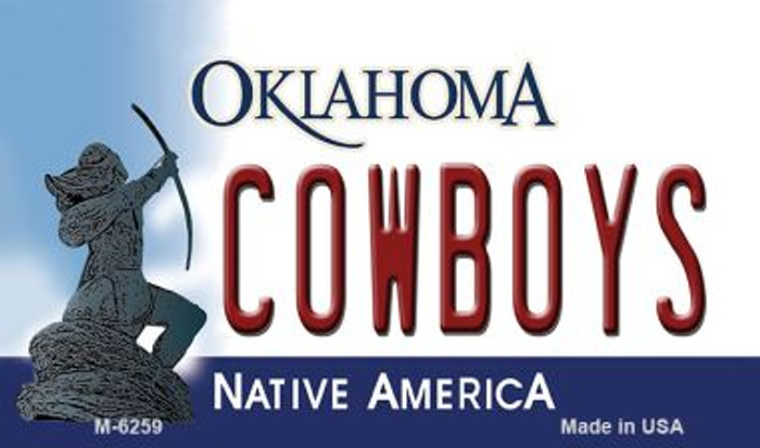 Cowboys Oklahoma State License Plate Novelty Magnet M-6259