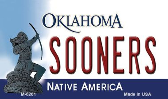 Sooners Oklahoma State License Plate Novelty Magnet M-6261