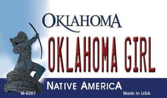 Oklahoma Girl Oklahoma State License Plate Novelty Magnet M-6267