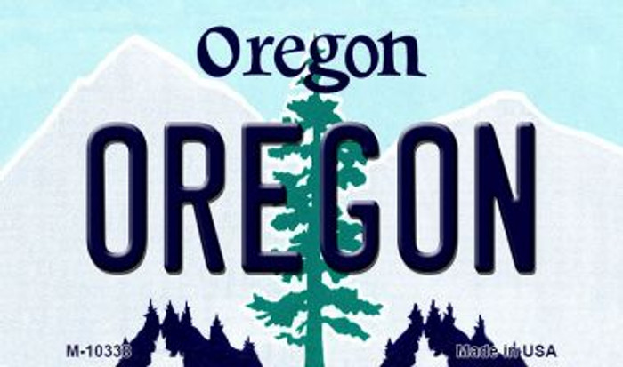 Oregon State License Plate Magnet M-10338