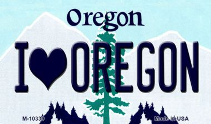I Love Oregon Oregon State License Plate Magnet M-10339