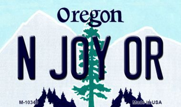 N Joy OR Oregon State License Plate Magnet M-10340