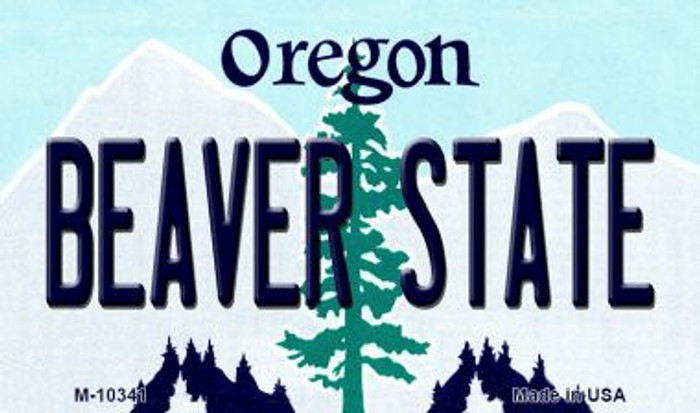 Beaver State Oregon State License Plate Magnet M-10341