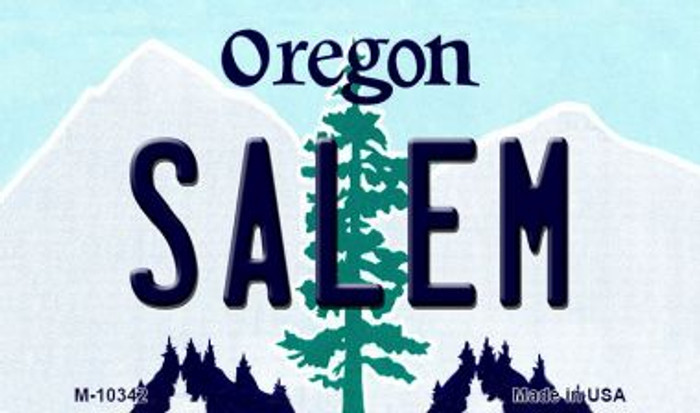 Salem Oregon State License Plate Magnet M-10342
