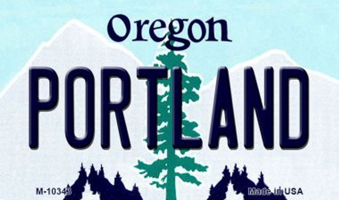 Portland Oregon State License Plate Magnet M-10343
