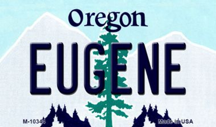 Eugene Oregon State License Plate Magnet M-10344